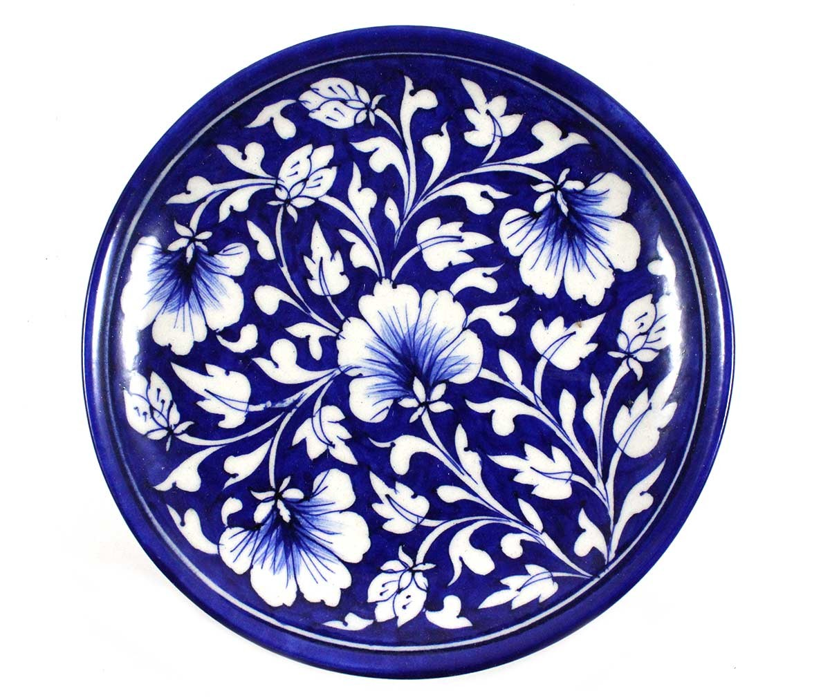 Decorative Ceramic Wall Plates Buy Exclusive Blue Art Decorative Ceramic Wall Art Plateindia