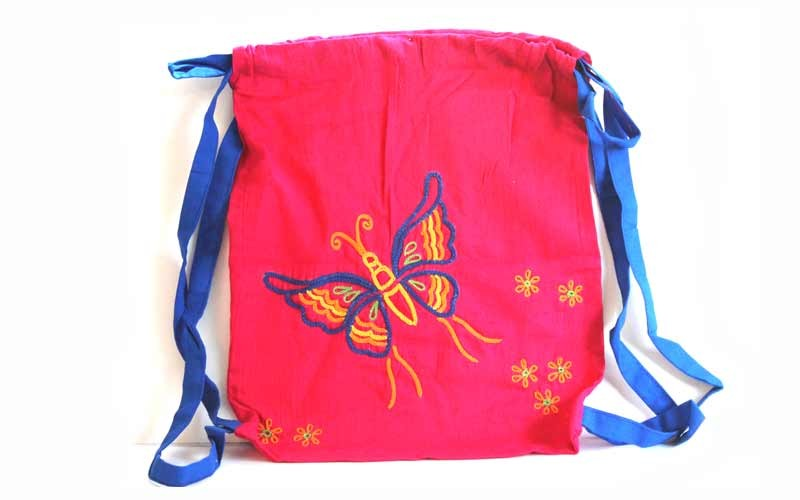 Cute Butterfly Hand Embroidery Picnic Bag By Women Self Help Groups