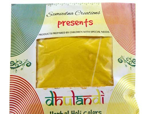 Organic Yellow Holi Colors Dry Gulaal by Intellectually Challenged