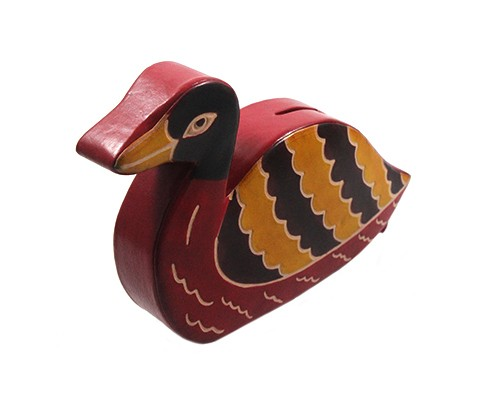 Handmade Pure Leather Duck Piggy Bank by Women Self Help Groups