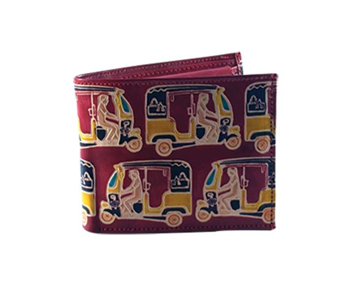 Red Auto Leather Wallet