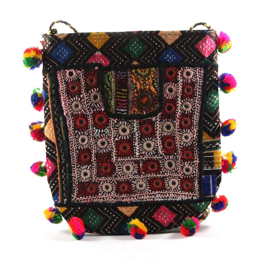 Designer Multicolor Ethnic Fashion Clutch Bag by Artisans of Gujarat