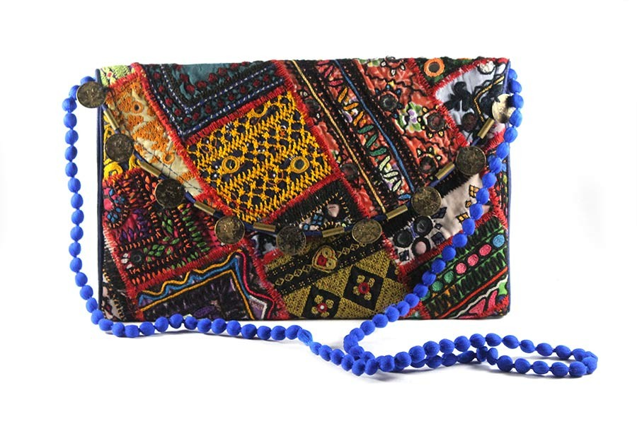 Handmade Ethinic Embroidered Sling Bag by artisans from Gujarat