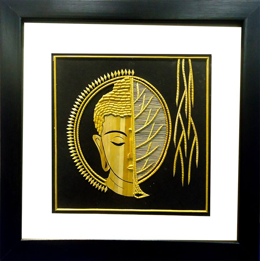 Shop Half Budha Half Sun Wall Hanging Sikki Art-India Meets India