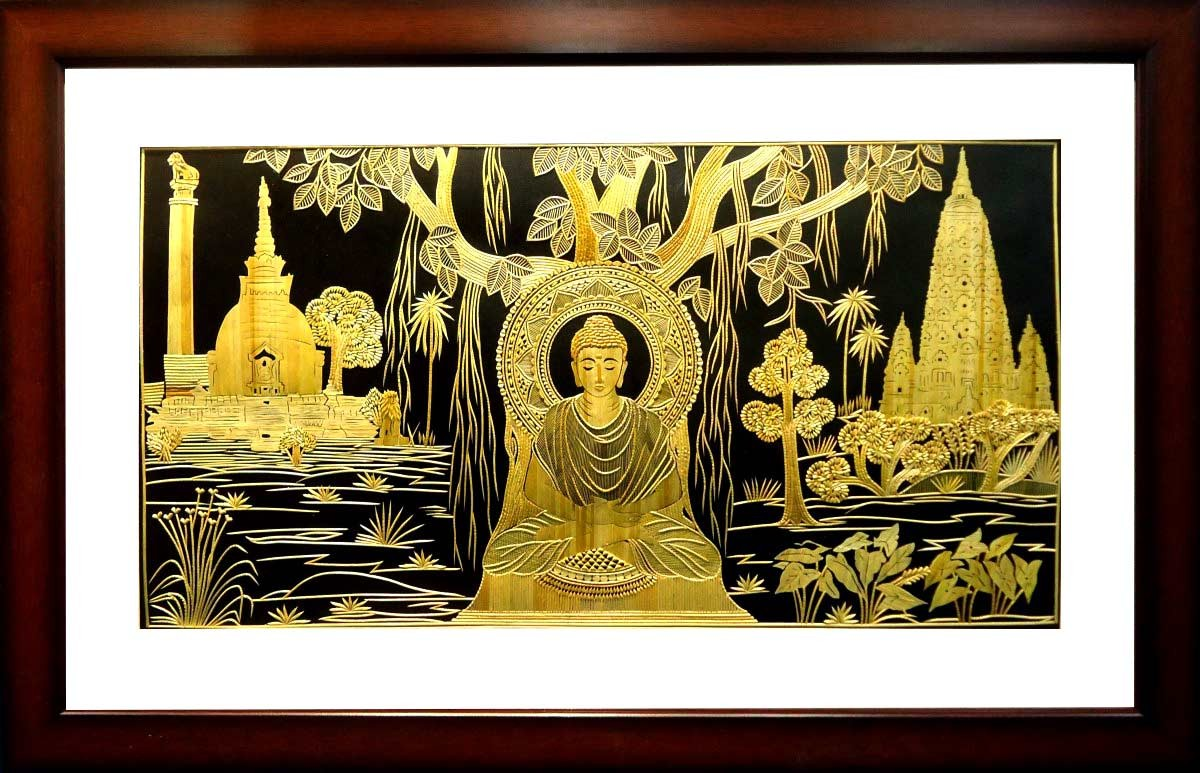 Shop Unique Lord Budha banyan Tree Hanging Sikki Art-India Meets India