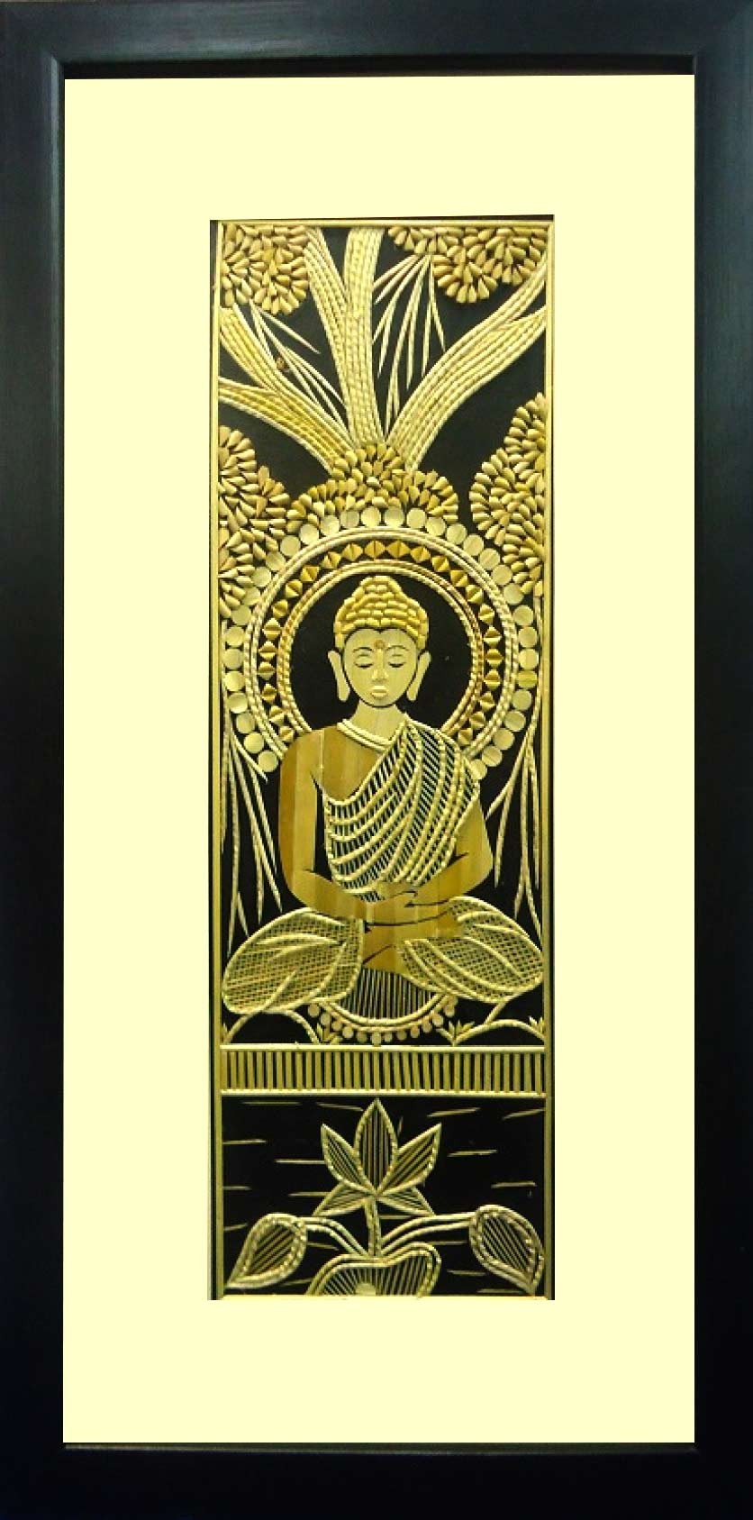 Shop Unique Lord Budha Meditating Hanging Sikki Art-India Meets India