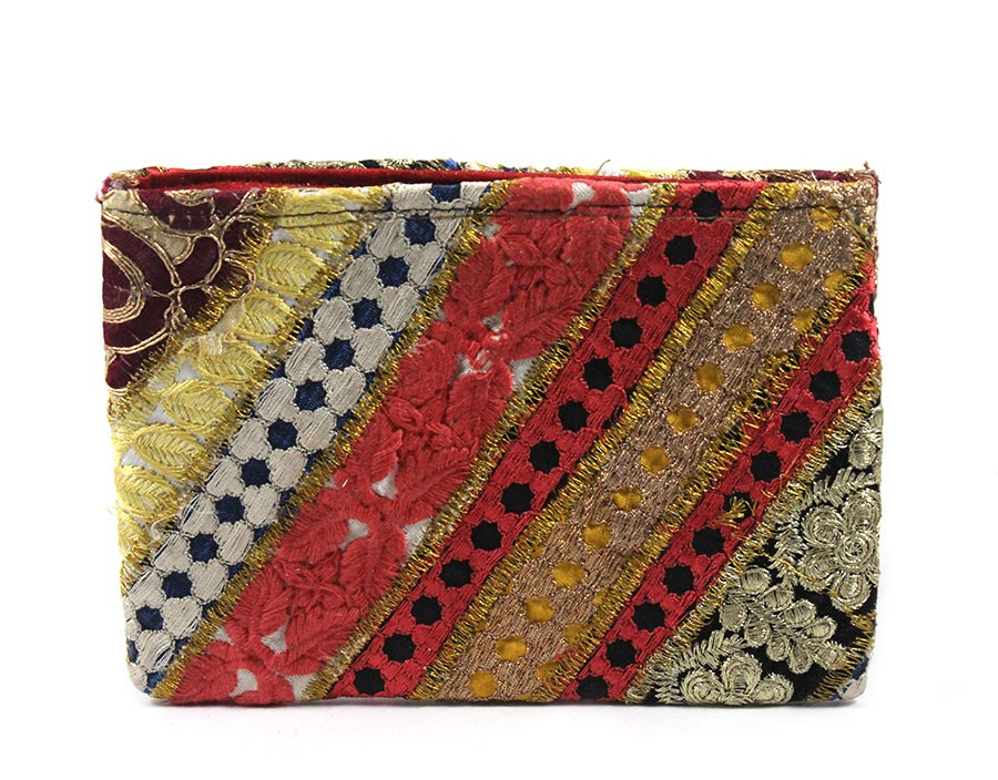 Classy Handmade Multicolor Ethnic Fashion Pouch by Artisans of Gujarat