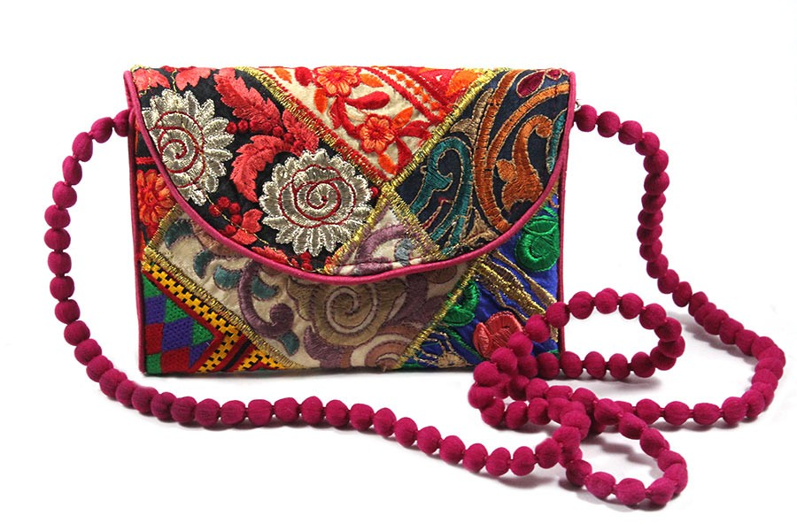 Handmade Multicolor Patch Work Ethnic Pouch by Artisans of Gujarat