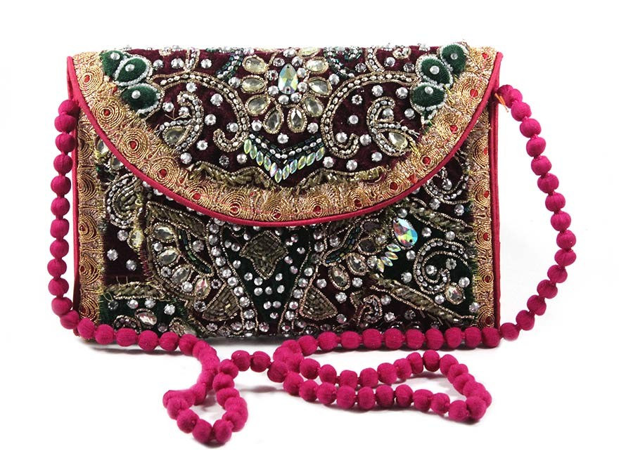 Multicolor Kutch Embroidery Fashion Sling Bag by Artisans of Gujarat
