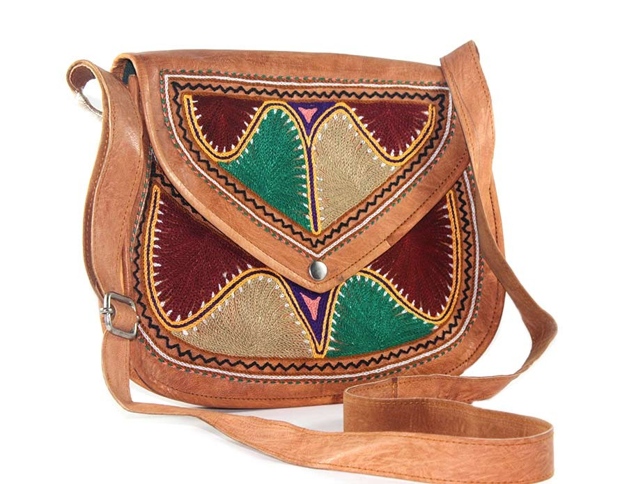9e4ee8349 Buy Stylish Designer Ethnic Leather Embroidered Sling Bag-India Meets India