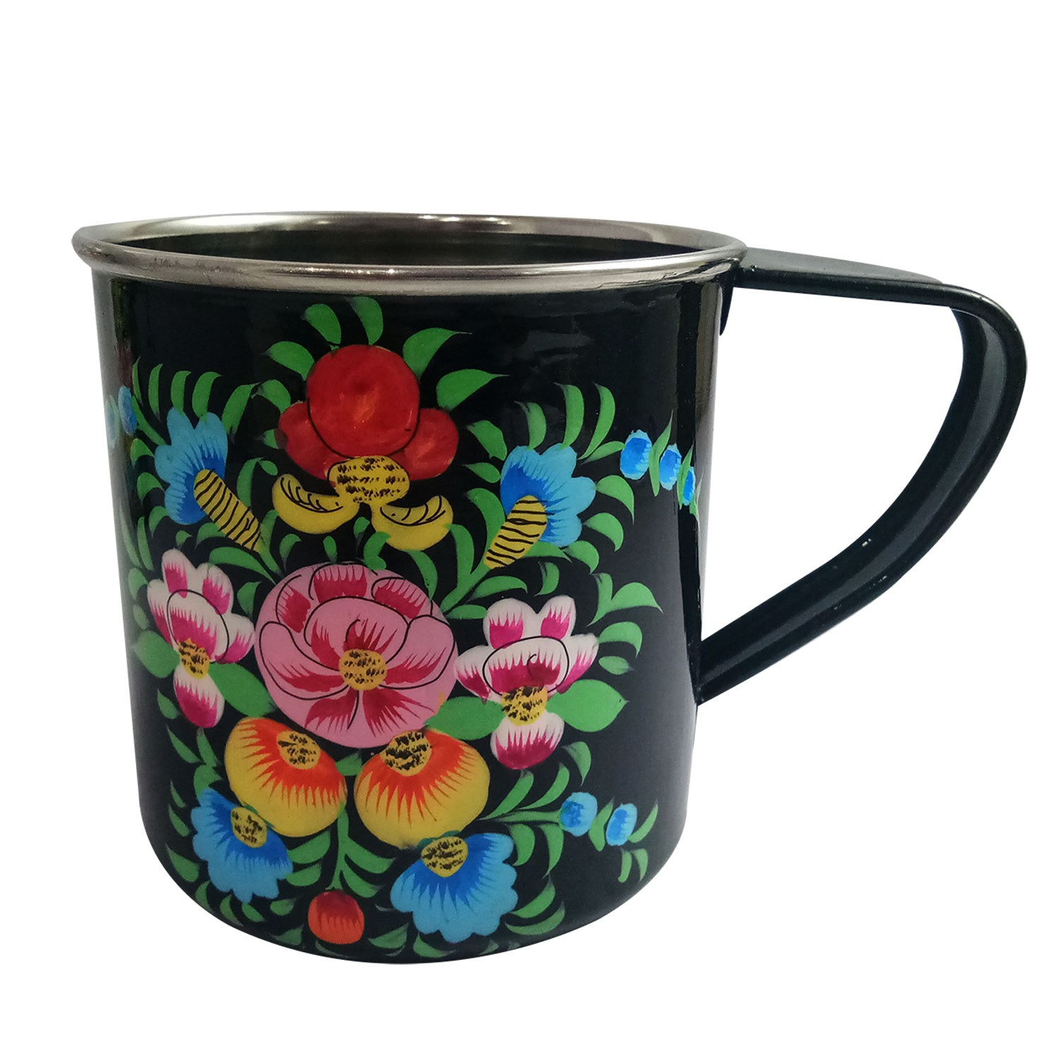 Handmade exclusive paper mache Multicolor Mugs 2 pcs By Rural Artisan.