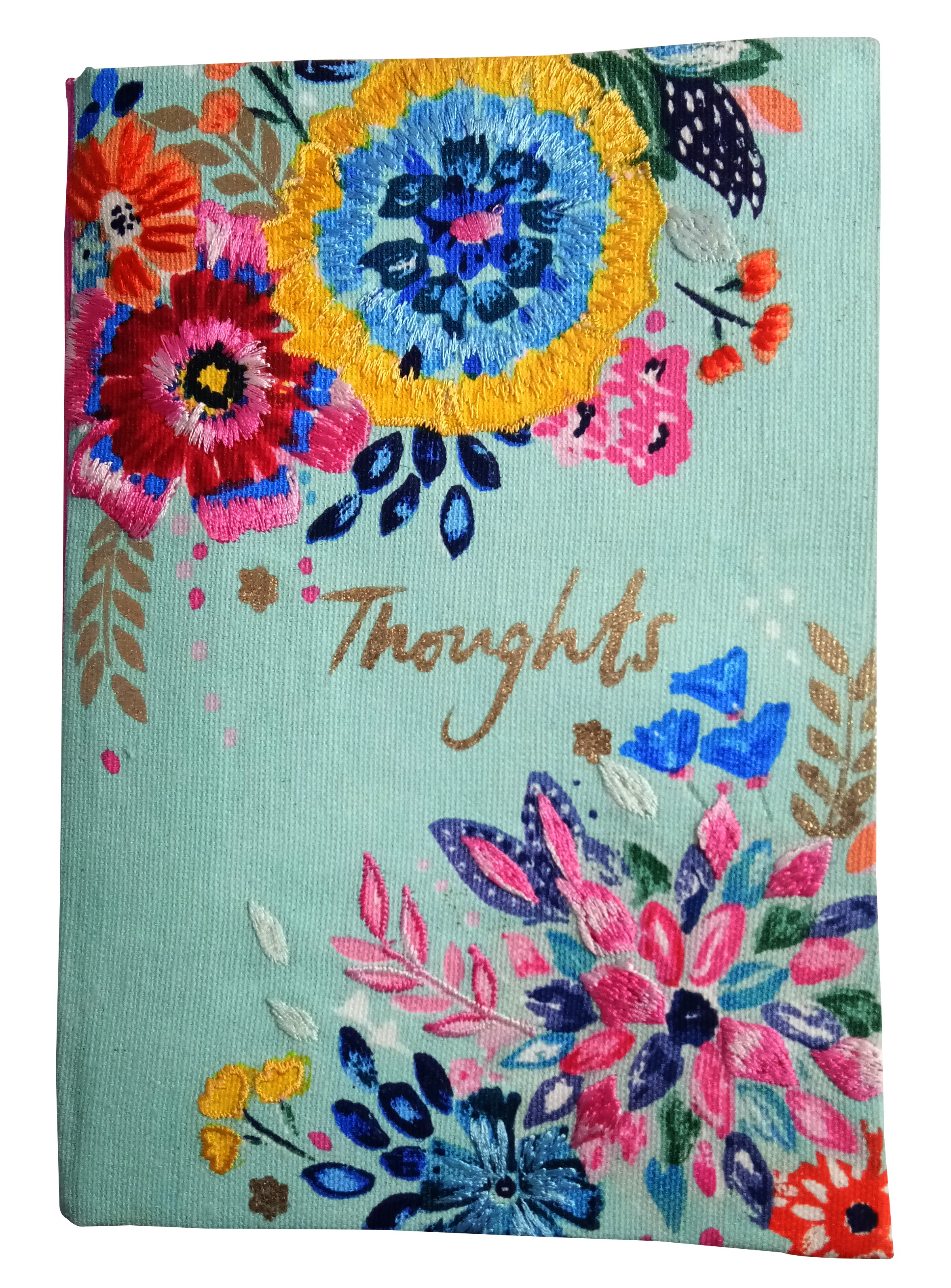 Handmade Cloth Printed Diary with Sequin Work by Slum people