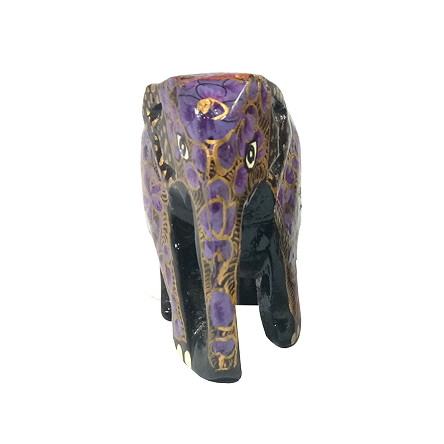 Handmade exclusive paper mache Purple  Elephant  By Rural Artisan.