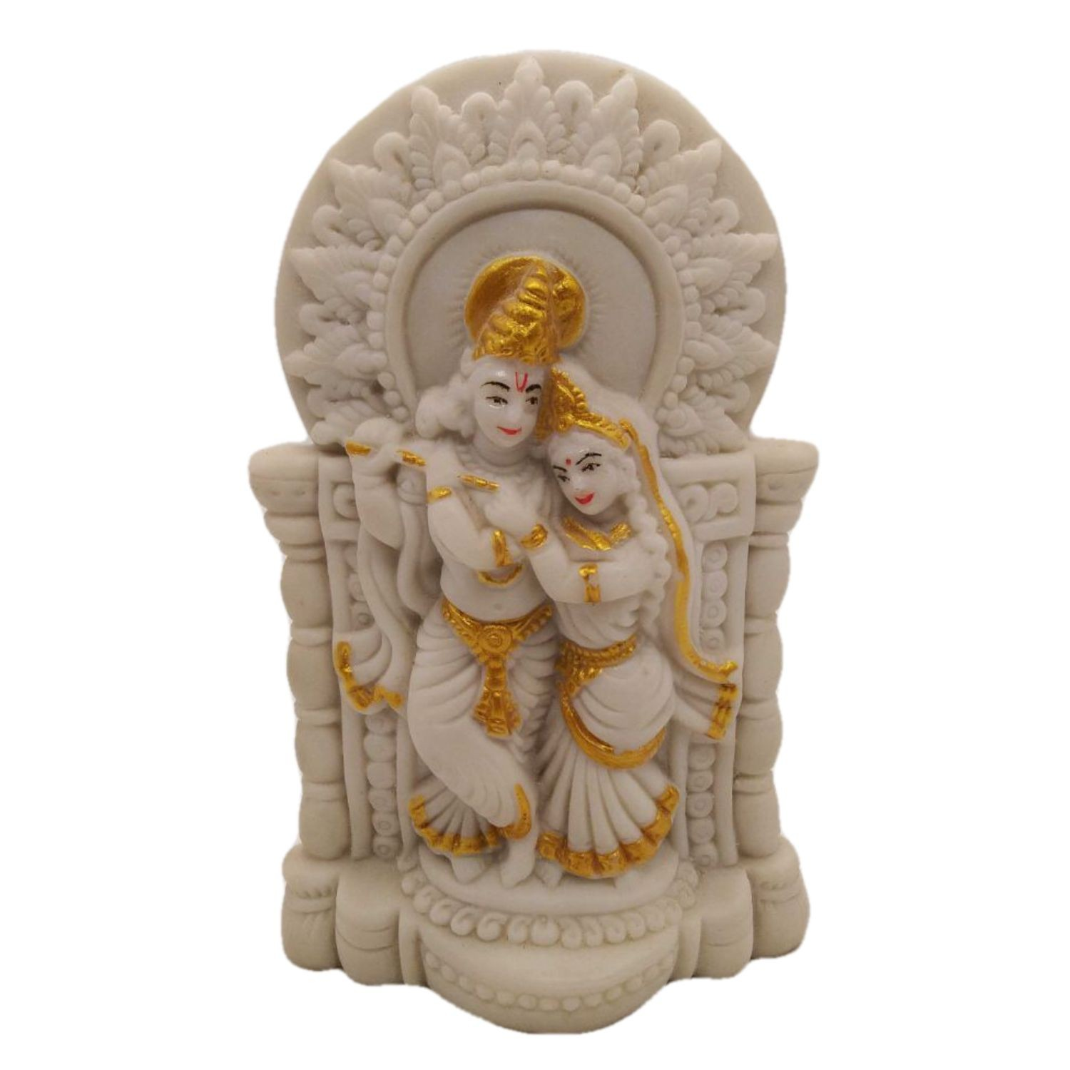 India Meets India Handicraft Marble Radha Krishna Statue, Radha Krishna Showpiece Set of 2, Home Décor, Best Gifting Made By Awarded Indian Artisan