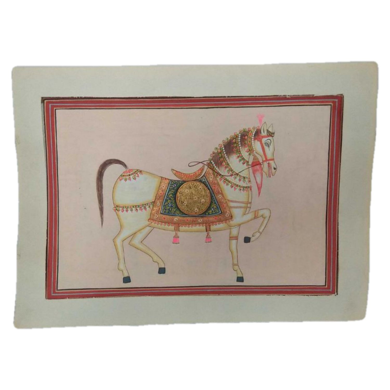 """India Meets India Handicraft Mughal Art Wall Painting, Wall Art, Wall Décor, 11""""X9"""" Inch (Without Frame), Best Gifting, Made By Awarded Indian Artisan"""