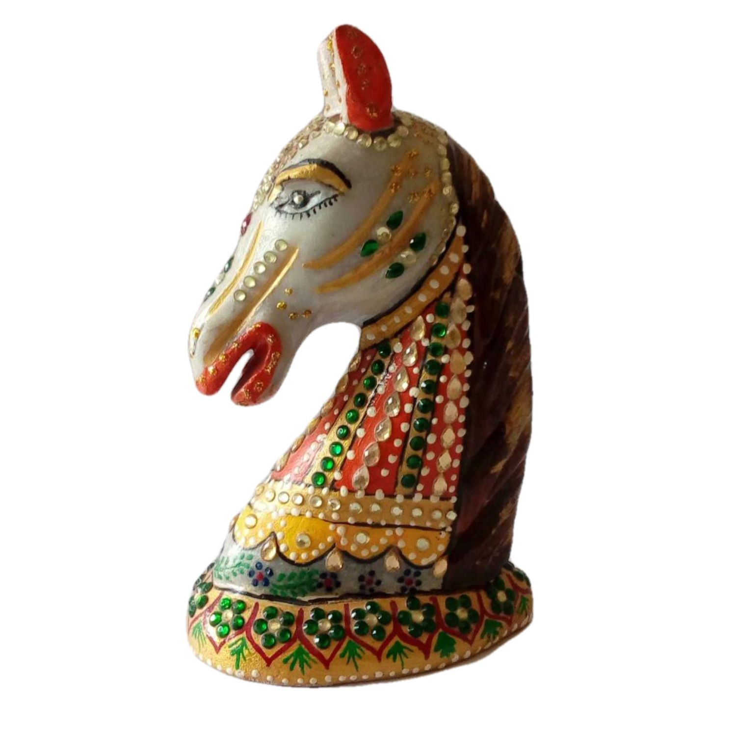 India Meets India Handicraft Marble Horse Statue, Horse Showpiece Home Decor, Best Gifting Made By Awarded Indian Artisan