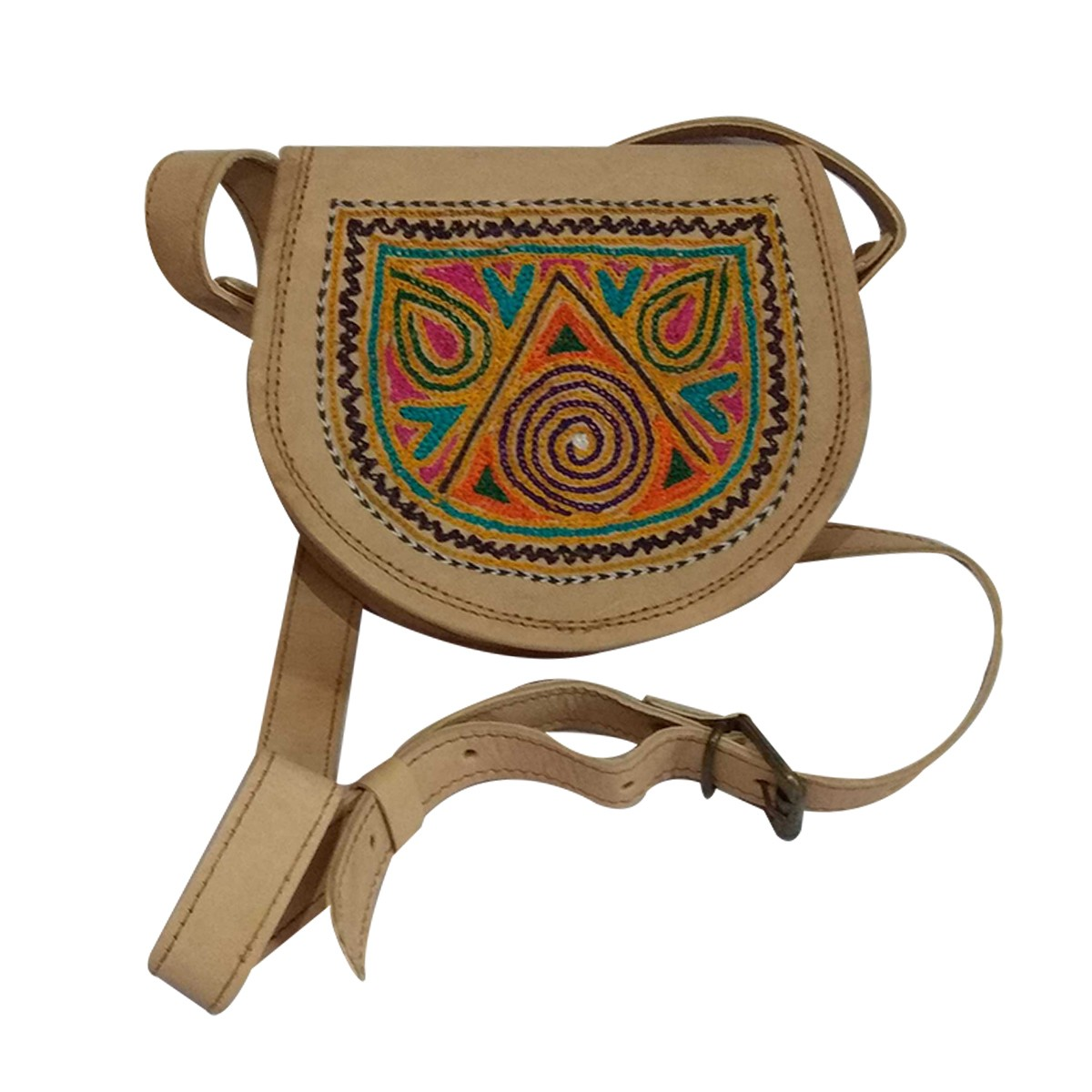 Handmade Brown Genuine Leather Vintage Sling Bag by Rural Artisans