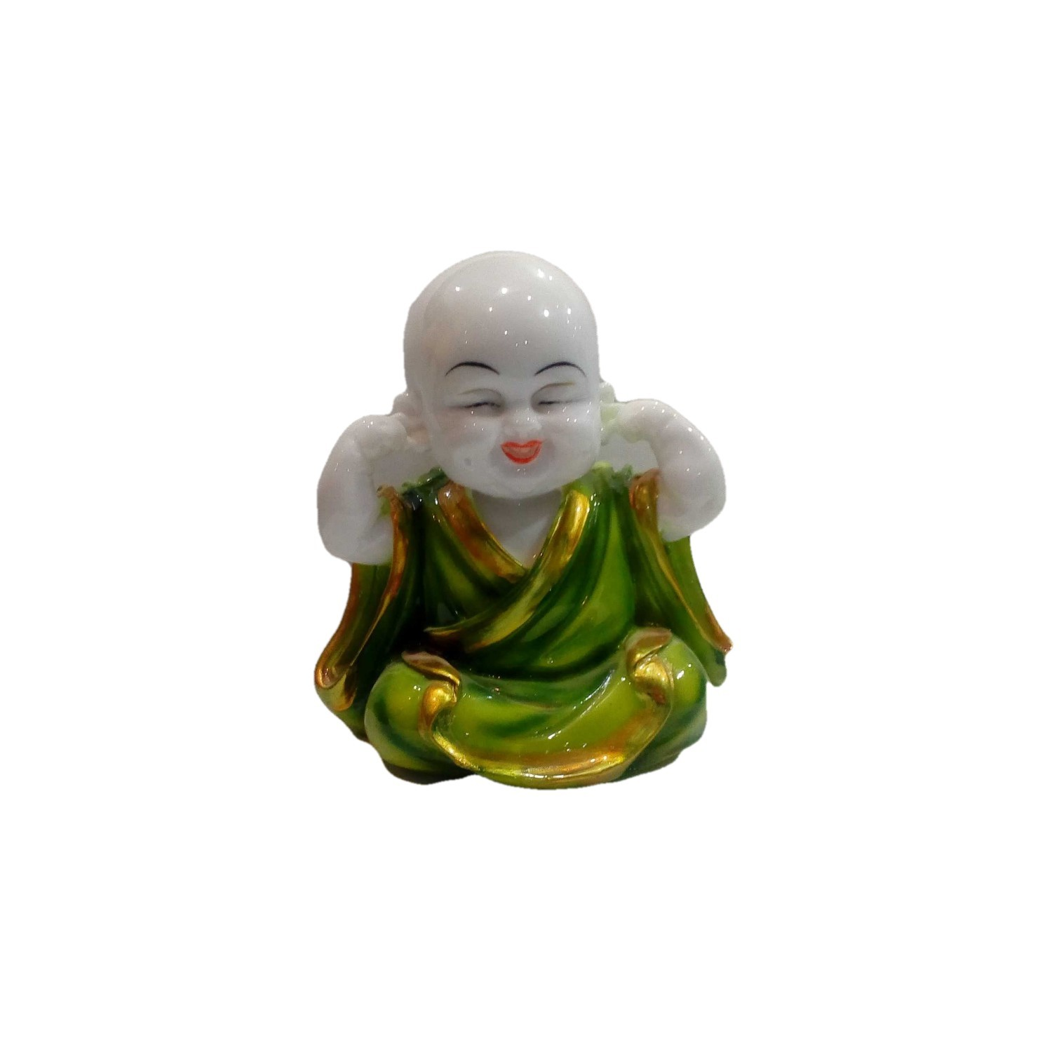 Handmade Excellent Green Marble Art Laughing Buddha Ji Showpiece  by Awarded Indian Rural Artisan