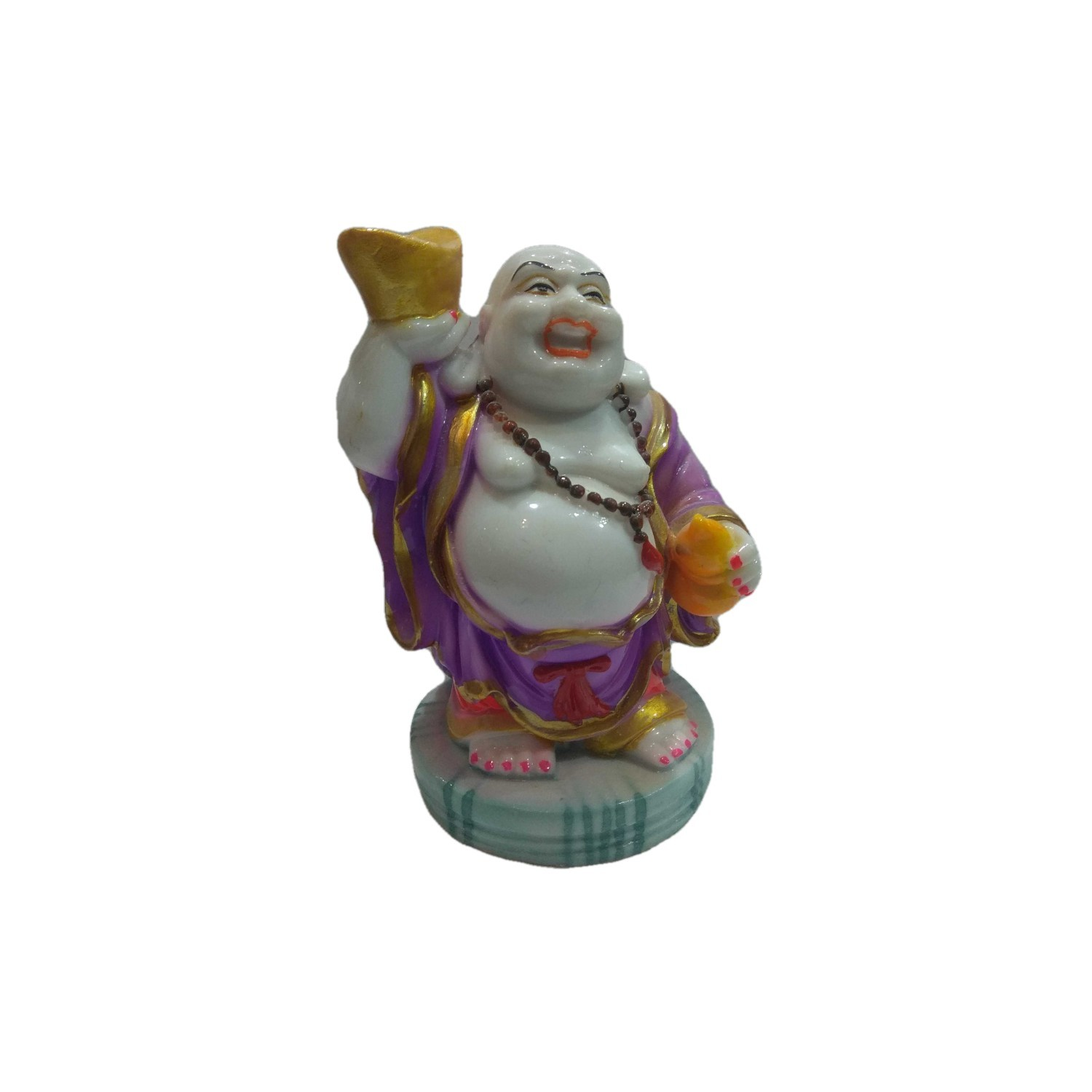 Handmade Excellent Purple Marble Art Laughing Buddha Ji Showpiece  by Awarded Indian Rural Artisan