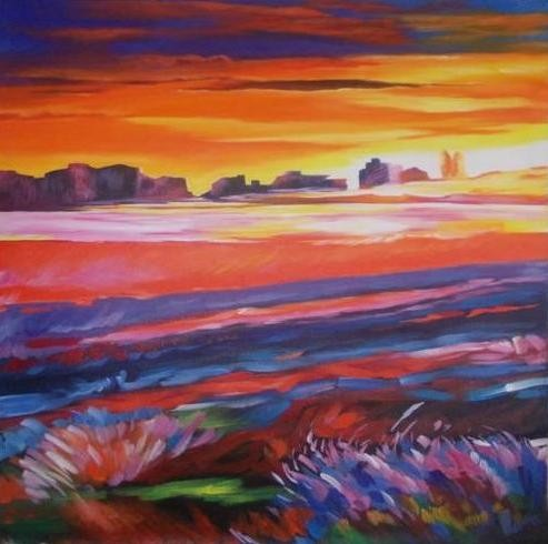 Classy Sunset in the Canyon Wall Hanging by Differently Abled Artist