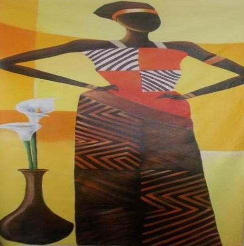 Classy Akimbo Tribal Woman Wall Hanging by Differently Abled Artist