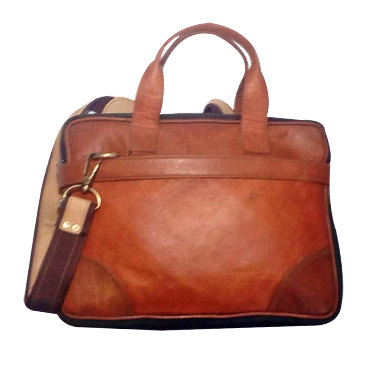 Handmade Brown Genuine Leather Vintage Messenger Bag by Rural Artisans