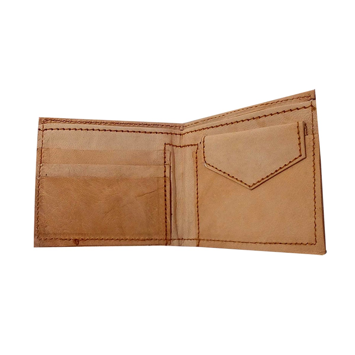 Handmade Brown Genuine Leather Vintage unisex Wallet by Rural Artisans