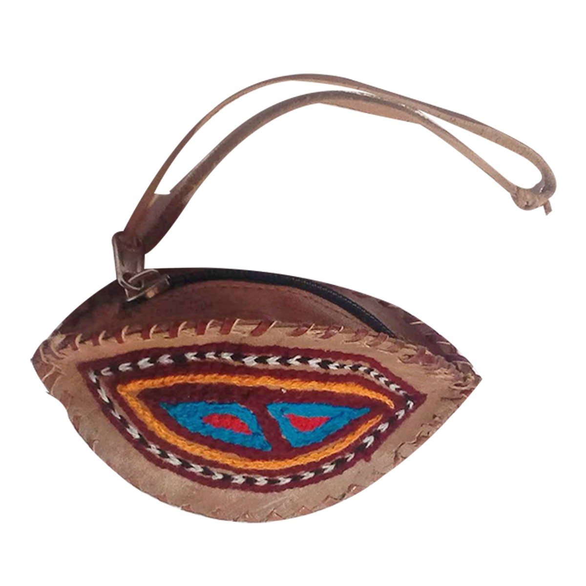 Handmade Brown Genuine Leather Vintage Coin Pouch by Rural Artisans