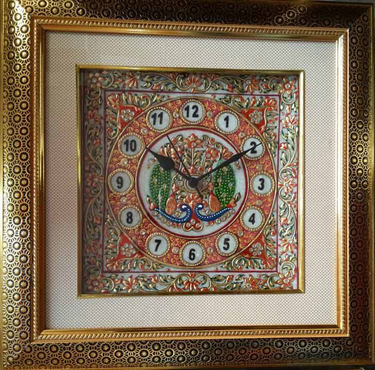 Buy Exclusive Decorative Marble Wall Clock For GiftingIndia Meets India