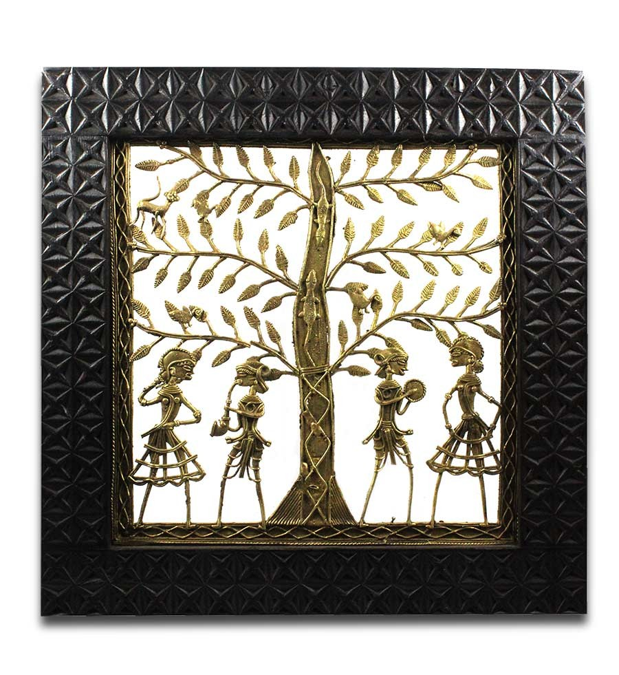 Exclusive Tree of Life Brass Wall Hanging by Artisans of Chattisgarh
