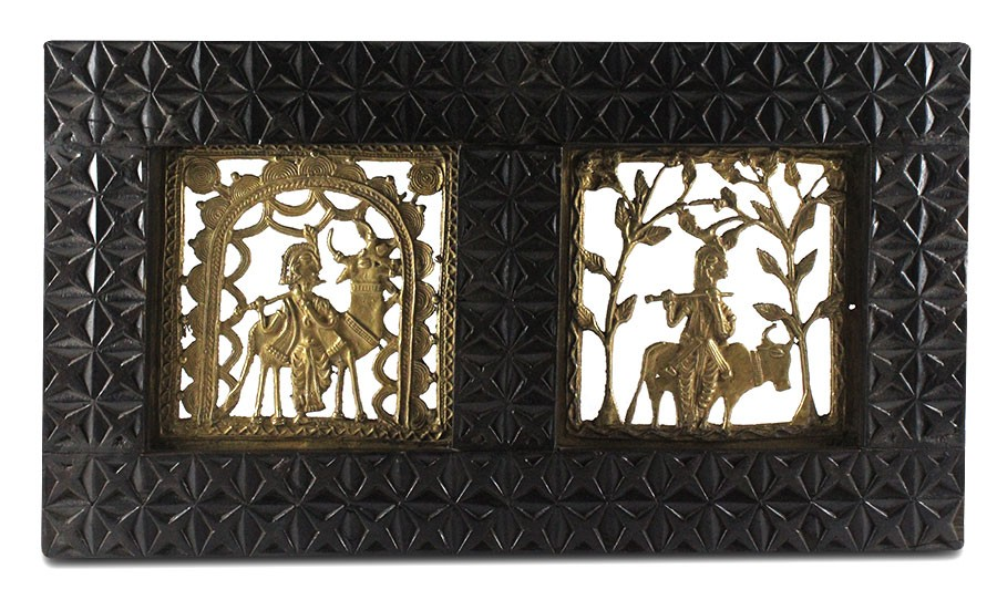 Exclusive Krishna Brass Wall Hanging by Artisans from Chattisgarh