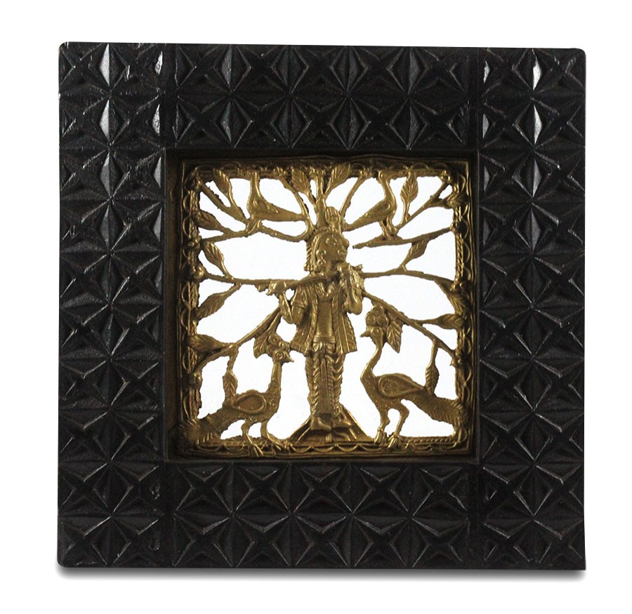 Unique Lord Krishna Brass Wall Hanging by Artisans from Chattisgarh