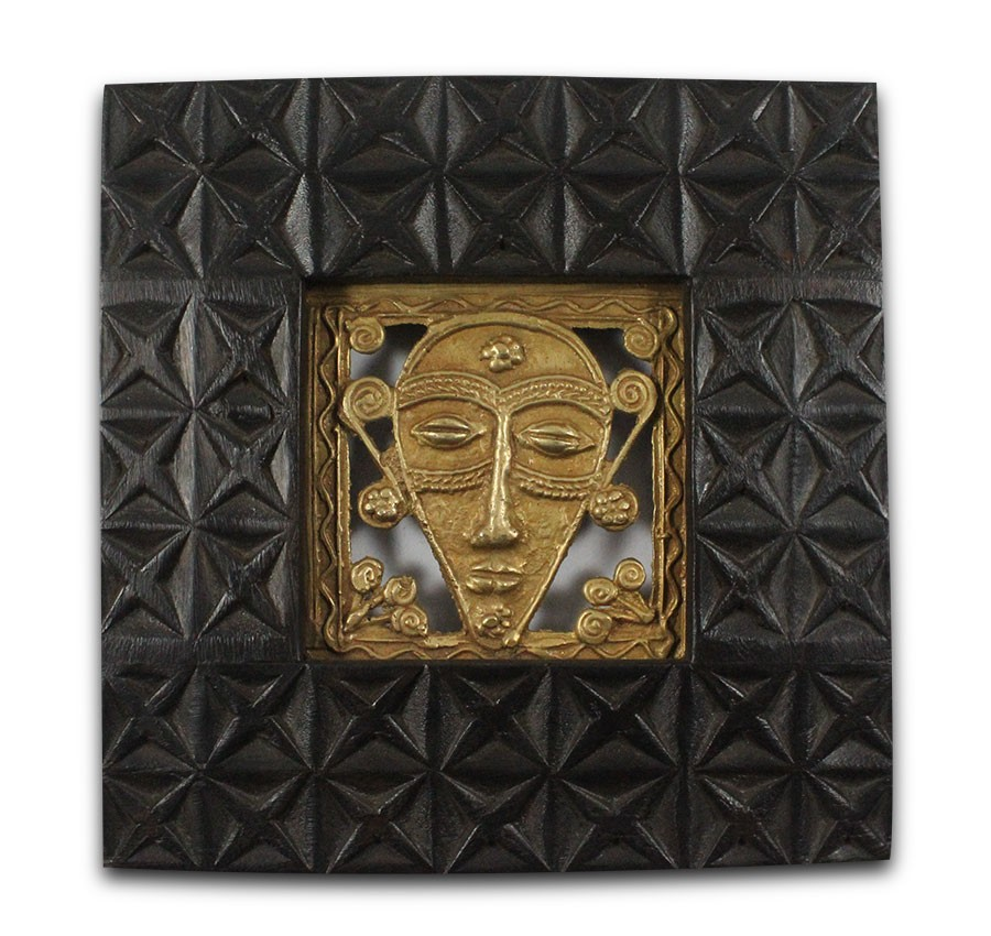 Exclusive Woman Face Brass Wall Hanging by Artisans from Chattisgarh