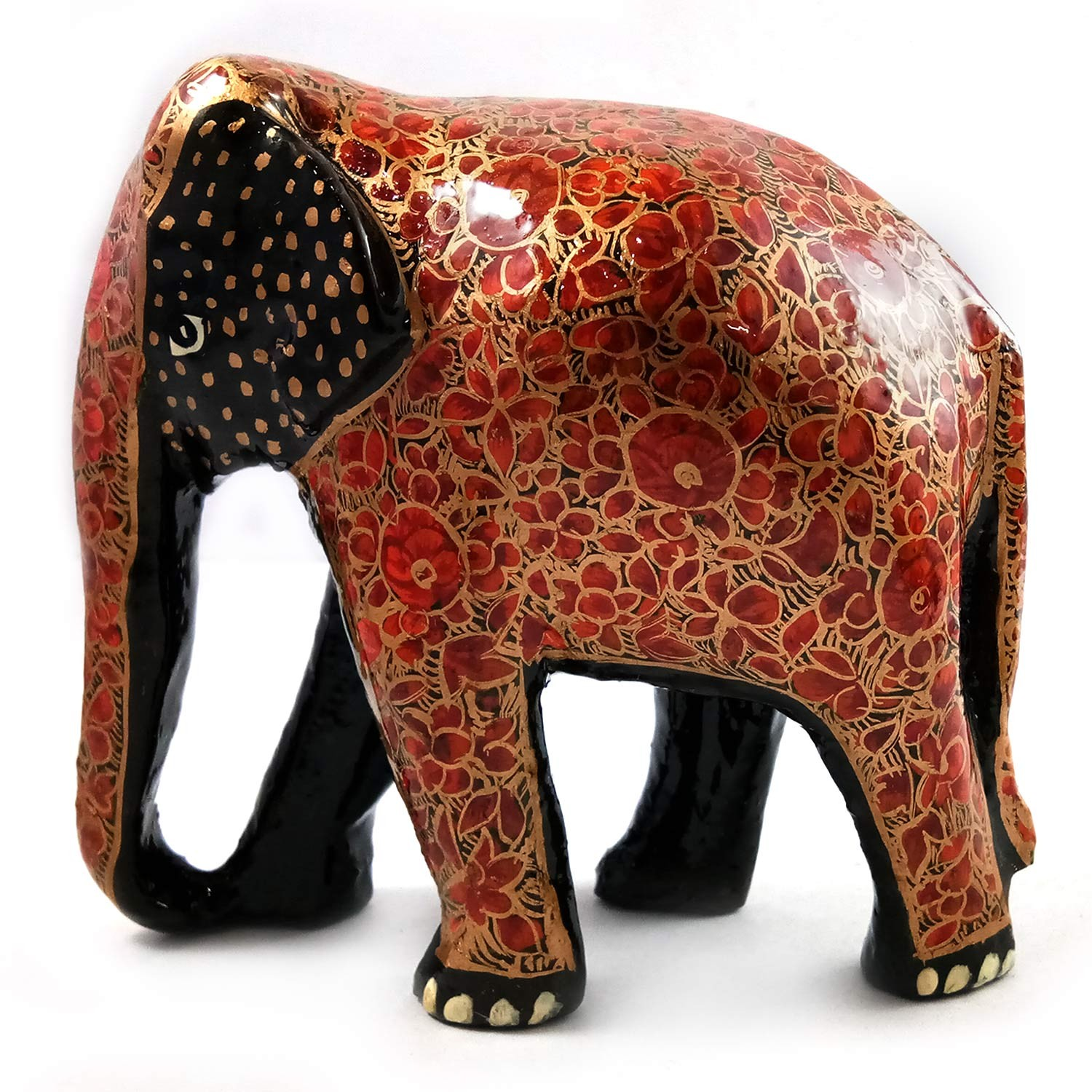 Handmade exclusive paper mache multicolor Decorative Elephant Set Of 1 By Rural Artisan.