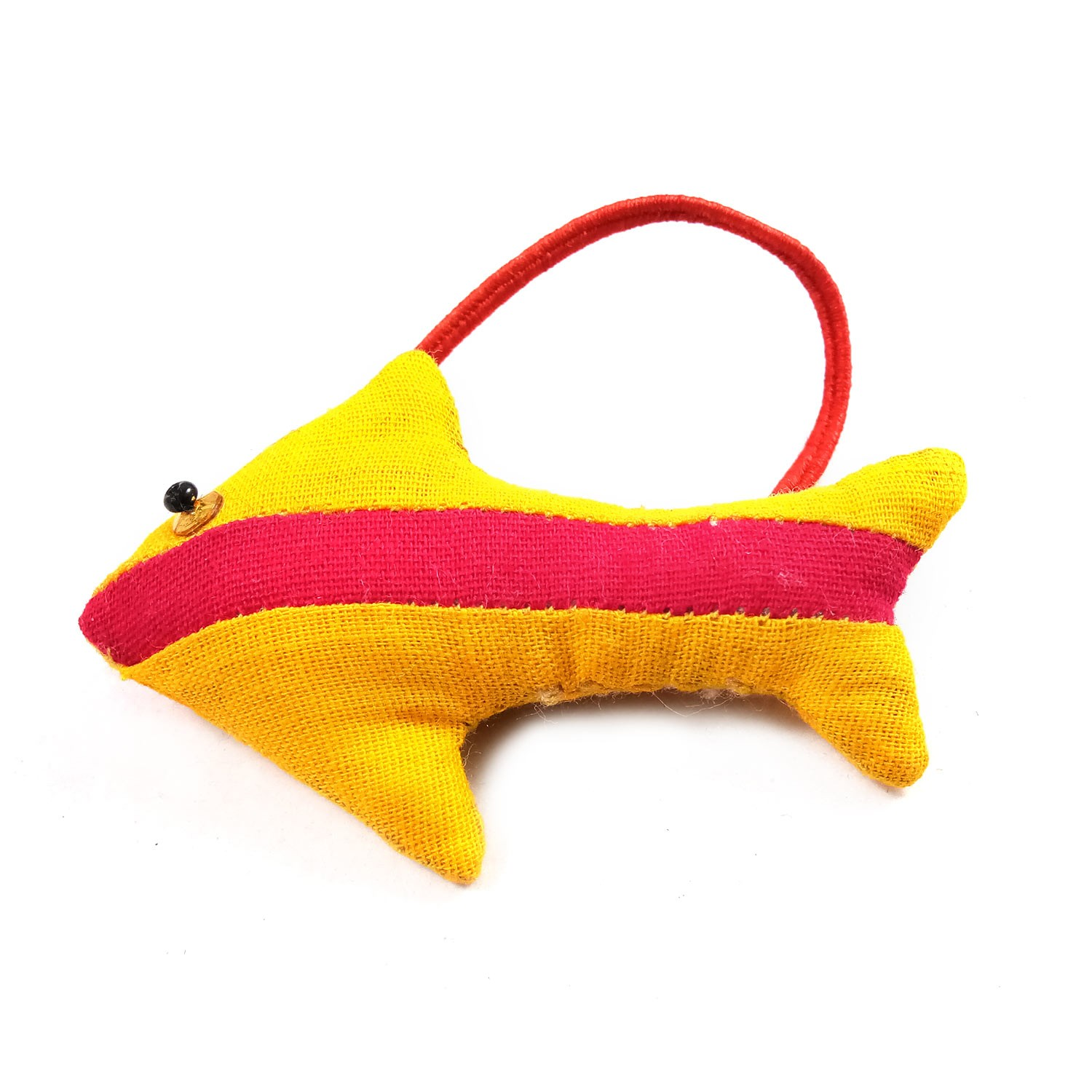 Handmade Multicolor Fish Design Car Mirror Hangings Ornaments, Bag Charms Ornaments Or Keychain & Keyring Door Hanging by Rural Artisan.