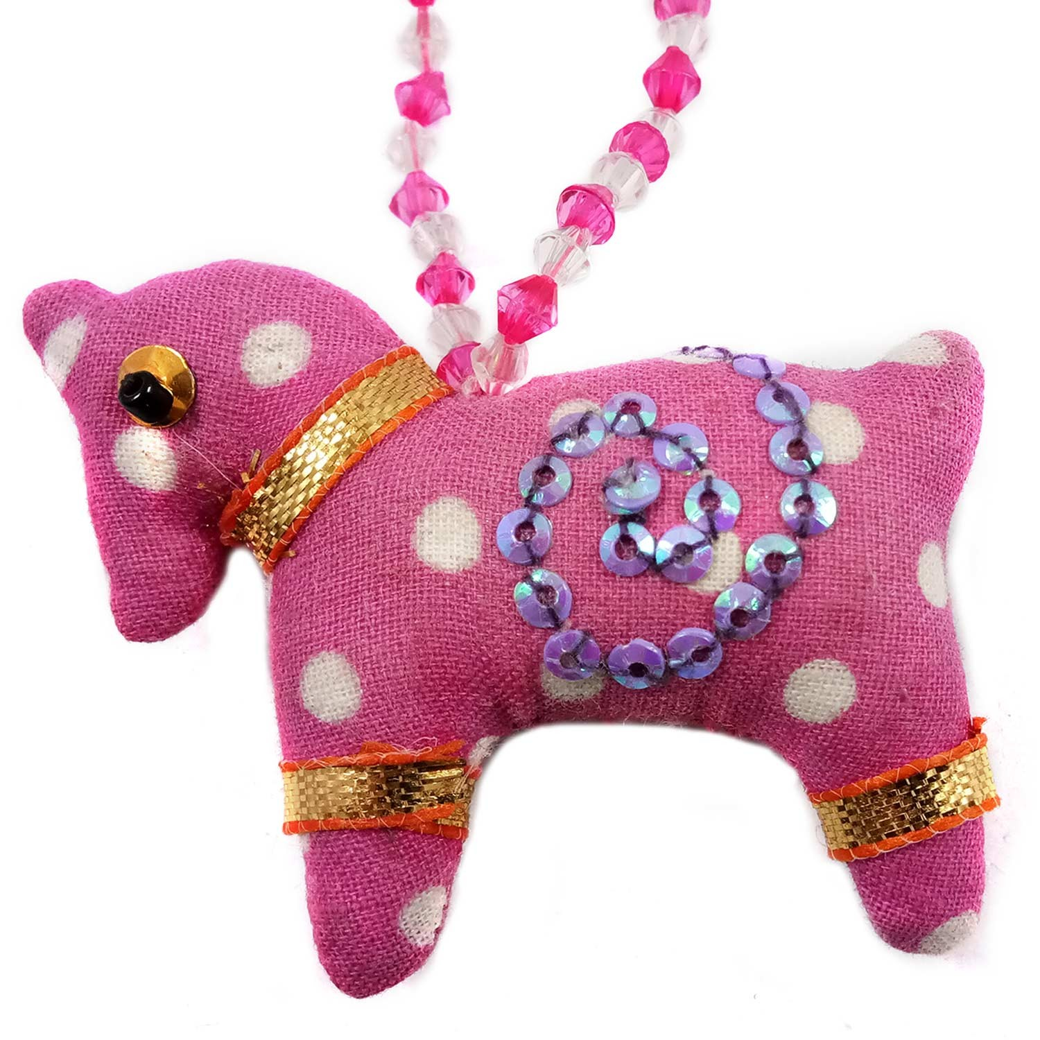 Handmade Multicolor Art Horse Keychain or Keyring | Girls Bag Decoration Charm | Decorative Ornaments  by Rural Artisan.