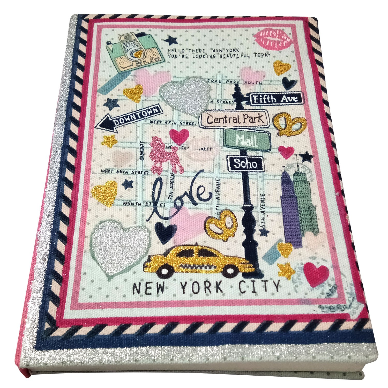 Unique Handmade New York City Cloth Diary by people of urban slums