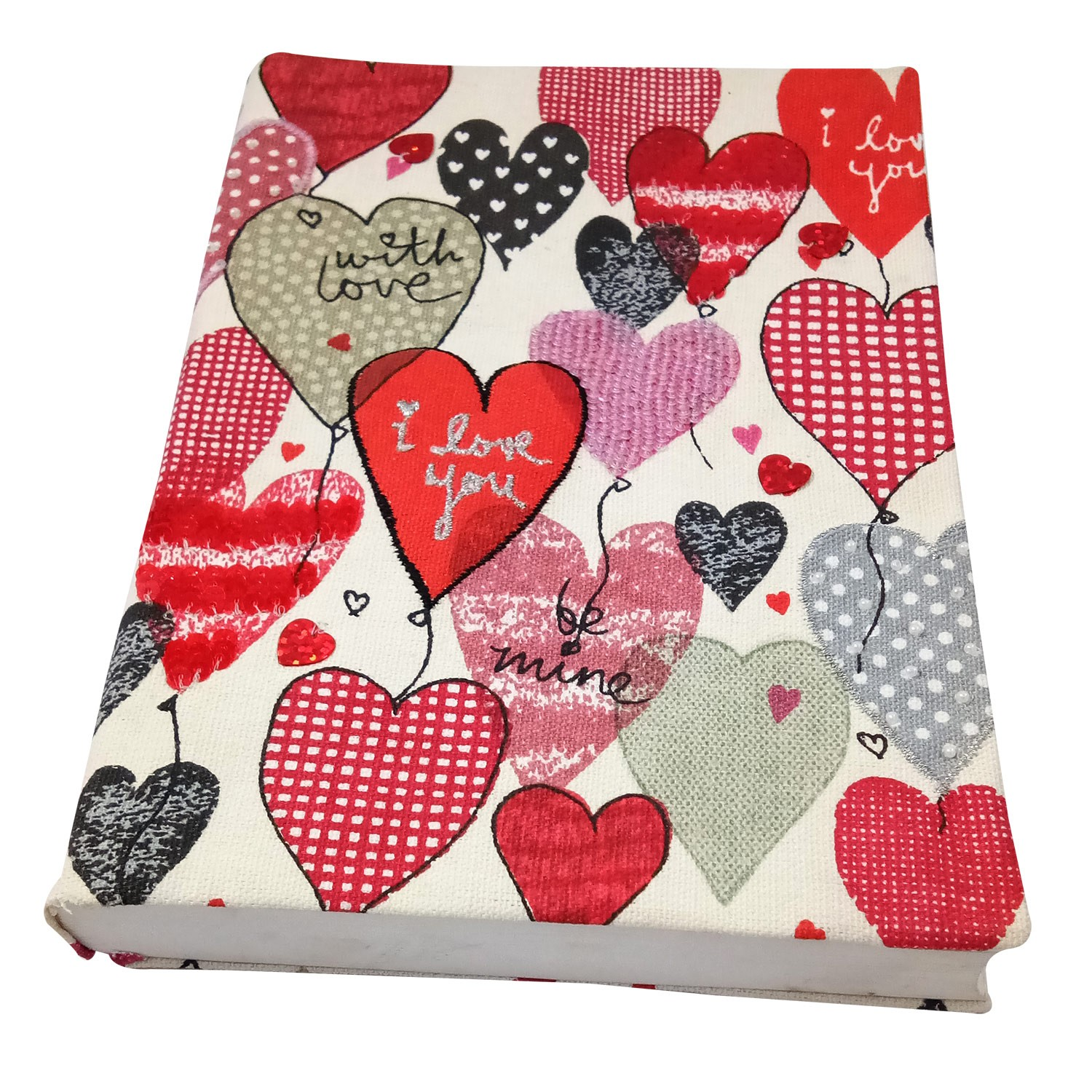 Attractive Handmade Cloth Diary with Cequin Work by people of urban slums