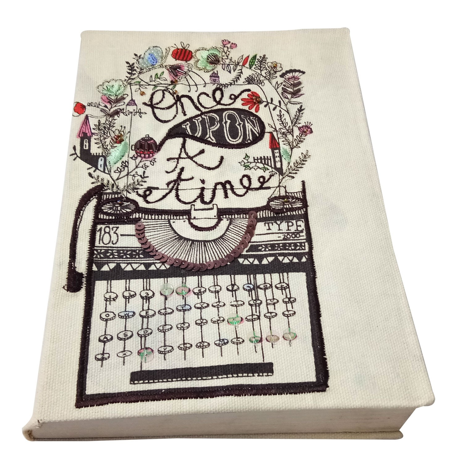 Cute Handmade Cloth Diary with Cequin Work by people of urban slums
