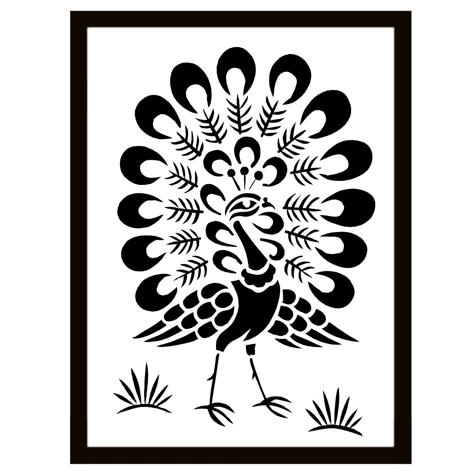 Handmade Sanjhi Art Peacock Design By Rural Artisans.
