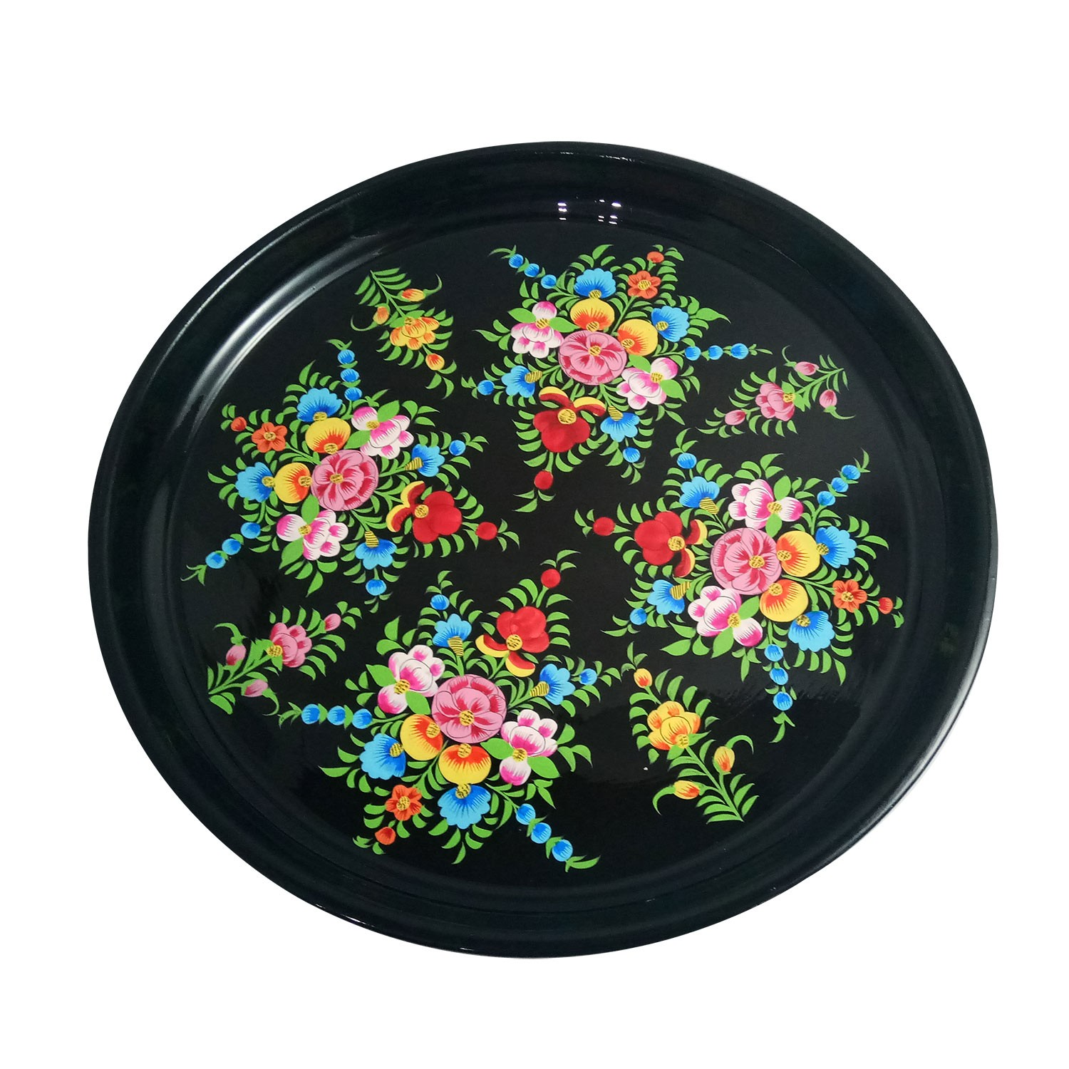 Handmade exclusive paper mache Multicolor Plate 1 pc By Rural Artisan.