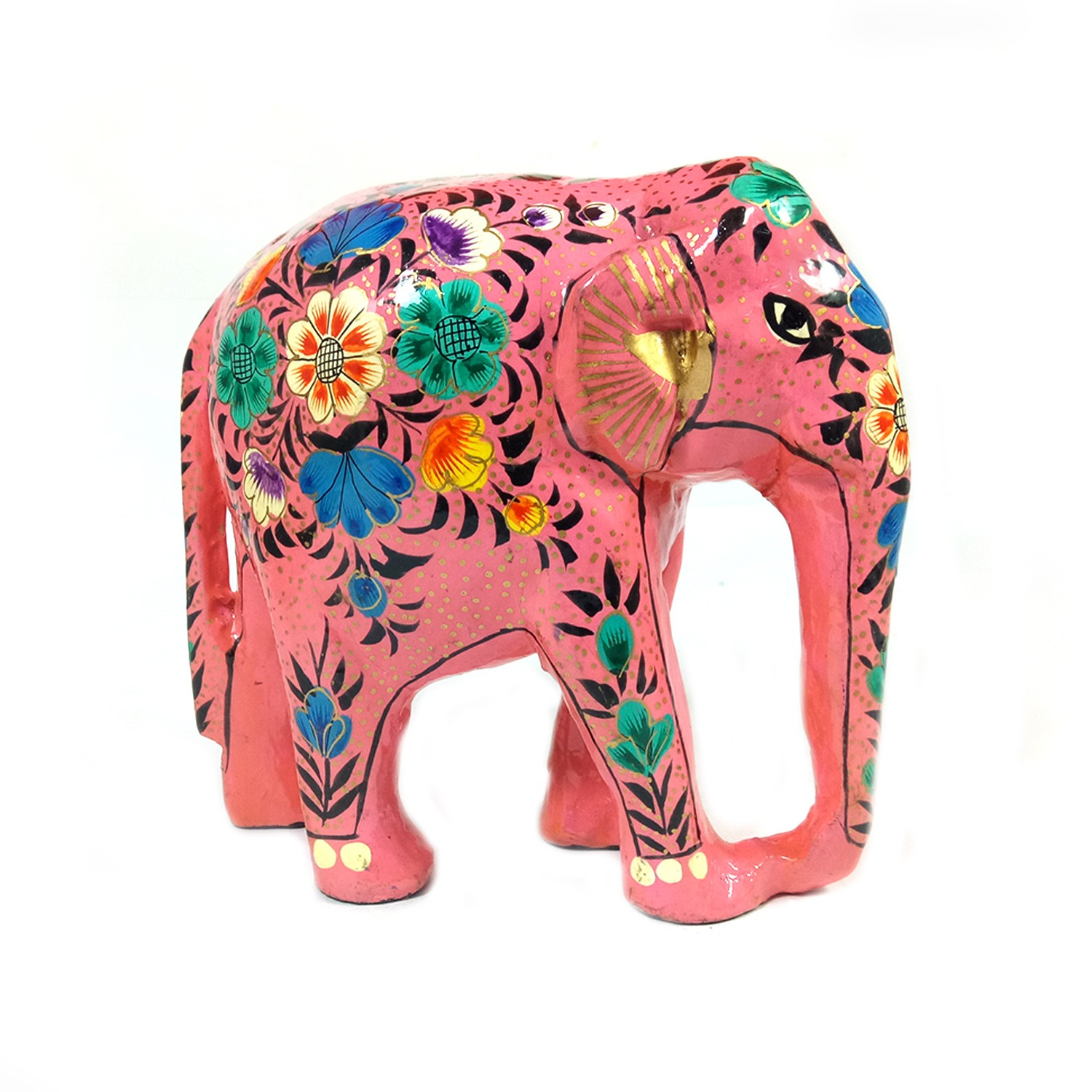 Handmade exclusive paper mache Pink Elephant  By Rural Artisan.
