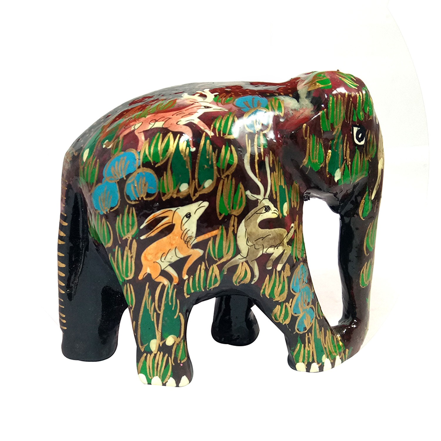 Handmade exclusive paper mache Multicolor Elephant  By Rural Artisan.