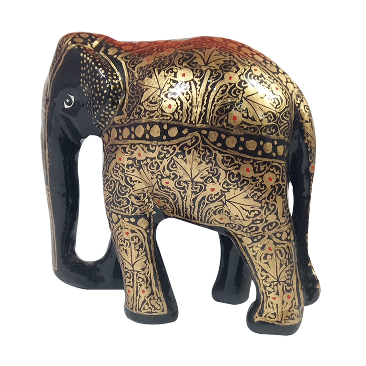 Handmade exclusive paper mache Black Elephant By Rural Artisan.