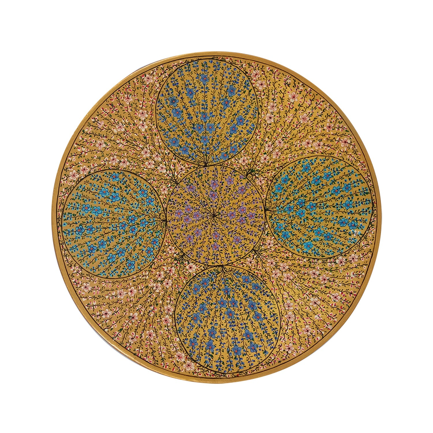 Handmade exclusive paper mache Multicolor Wall Plate By Rural Artisan.