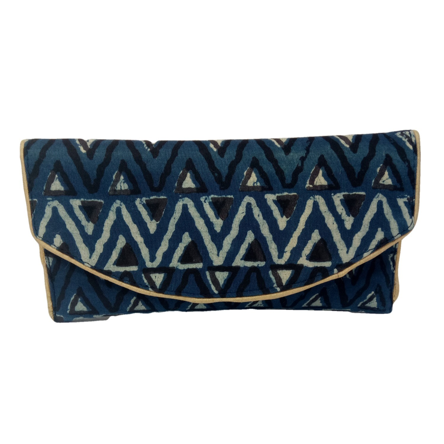 Handmade Excellent Blue Genuine Clutch by Women Self Help Groups of Rajasthan