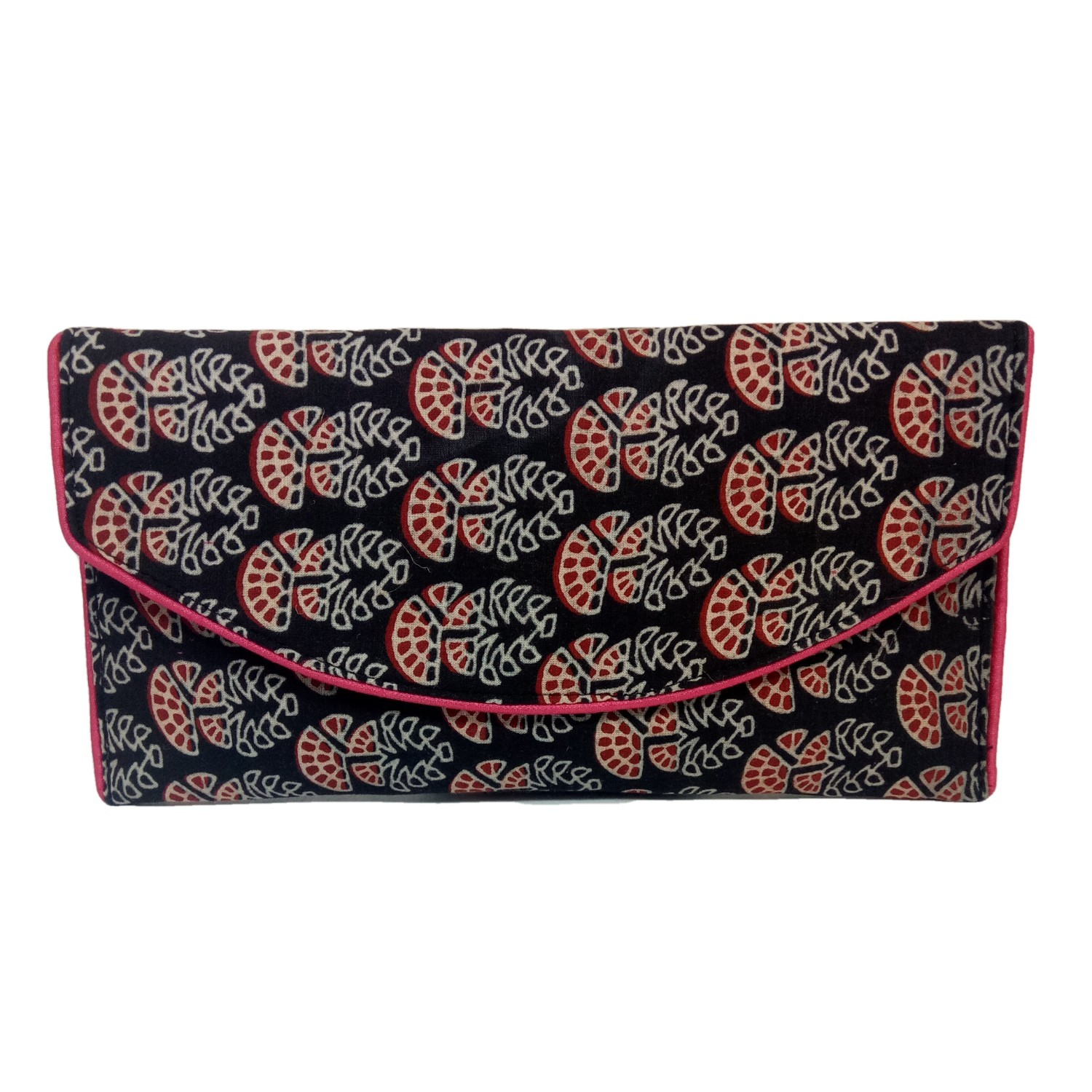 Handmade Excellent Black Genuine Clutch by Women Self Help Groups of Rajasthan