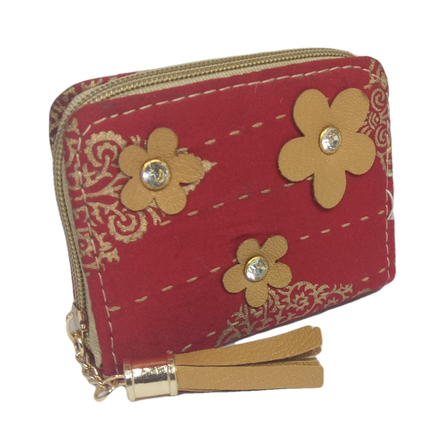 Handmade Excellent Red Genuine Coin Pouch by Women Self Help Groups of Rajasthan