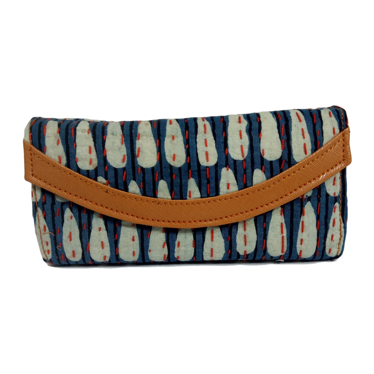 Handmade Excellent Cream Genuine Clutch by Women Self Help Groups of Rajasthan
