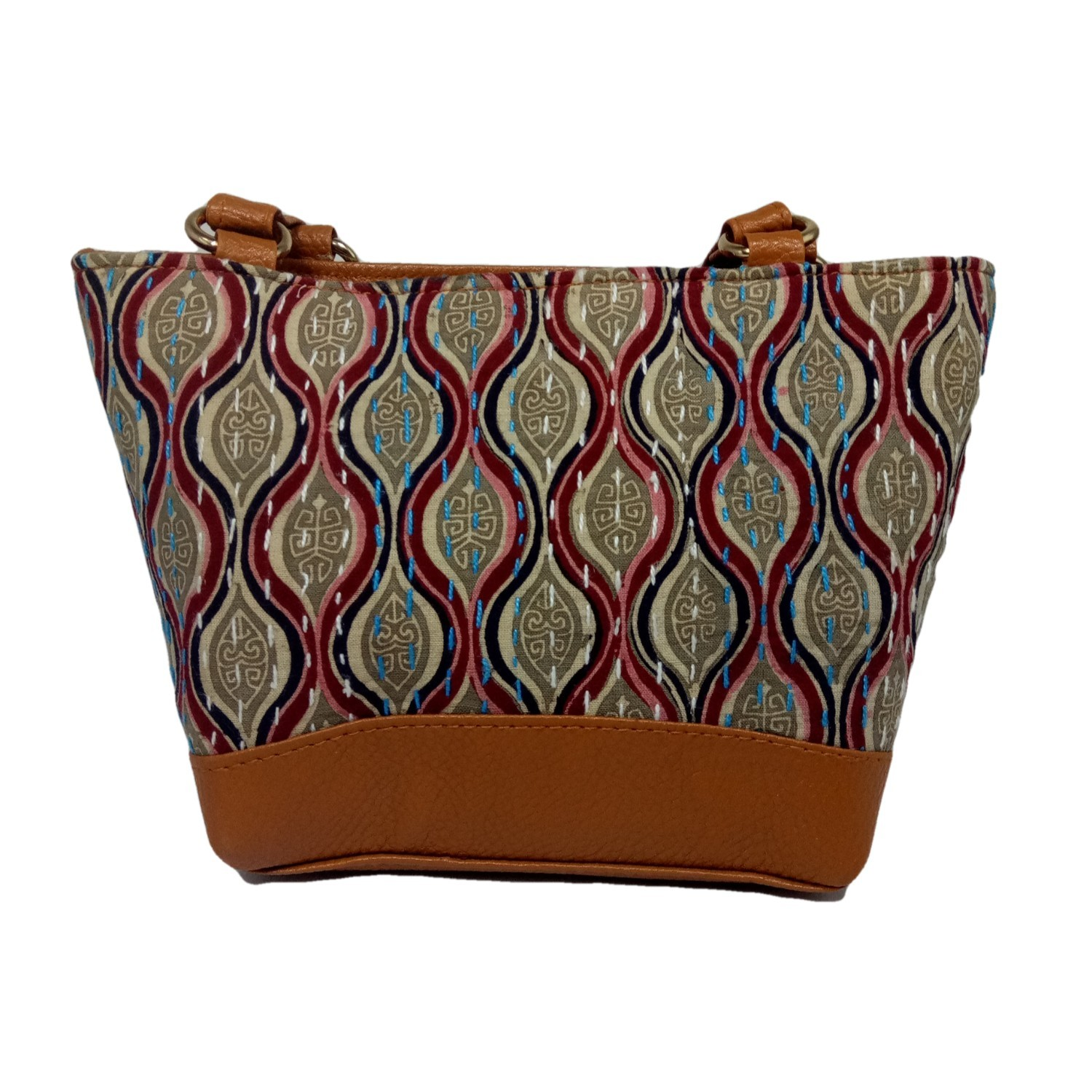 Handmade Excellent Cream Genuine Shoulder Bag by Women Self Help Groups of Rajasthan